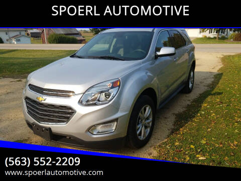 2017 Chevrolet Equinox for sale at SPOERL AUTOMOTIVE in Sherrill IA