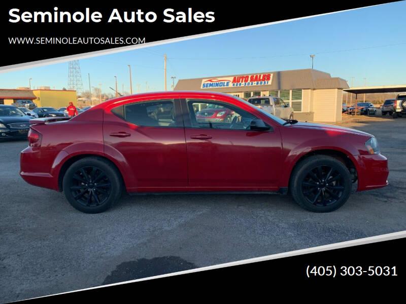 2014 Dodge Avenger for sale at Seminole Auto Sales in Seminole OK