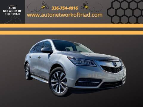 2016 Acura MDX for sale at Auto Network of the Triad in Walkertown NC