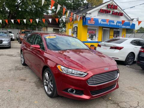 2016 Ford Fusion for sale at C & M Auto Sales in Detroit MI