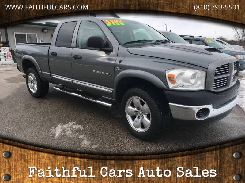 2007 Dodge Ram Pickup 1500 for sale at Faithful Cars Auto Sales in North Branch MI