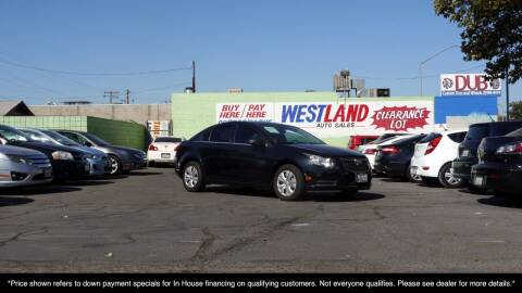 2012 Chevrolet Cruze for sale at Westland Auto Sales on 7th in Fresno CA