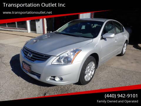 2012 Nissan Altima for sale at Transportation Outlet Inc in Eastlake OH
