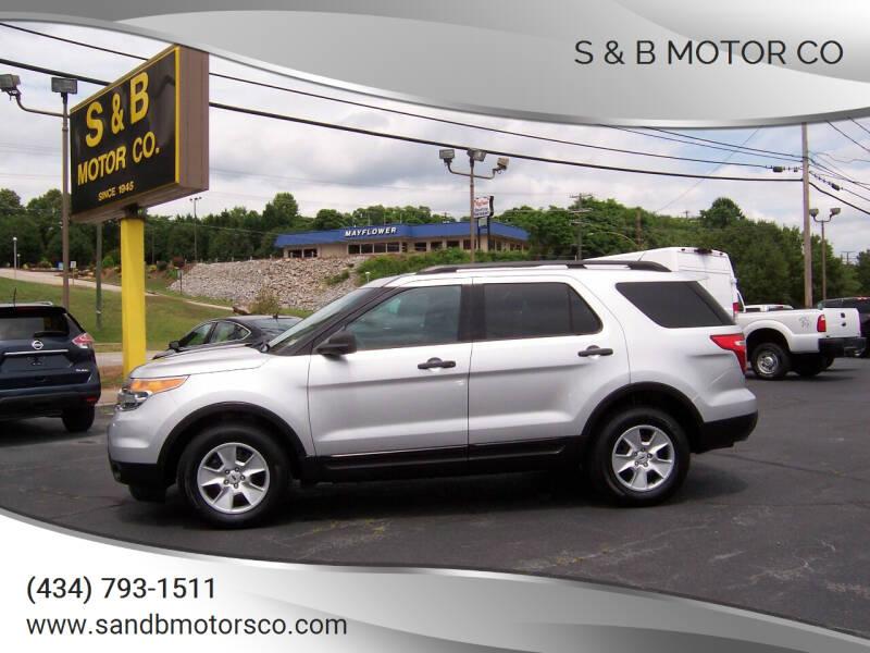 2014 Ford Explorer for sale at S & B MOTOR CO in Danville VA