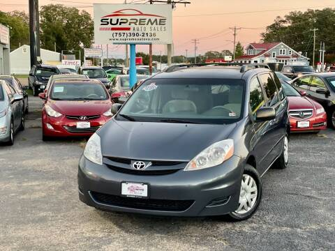 2007 Toyota Sienna for sale at Supreme Auto Sales in Chesapeake VA