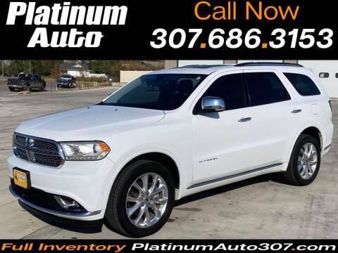 2020 Dodge Durango for sale at Platinum Auto in Gillette WY