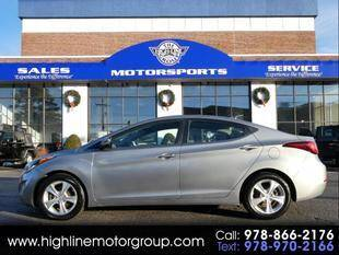 2016 Hyundai Elantra for sale at Highline Group Motorsports in Lowell MA