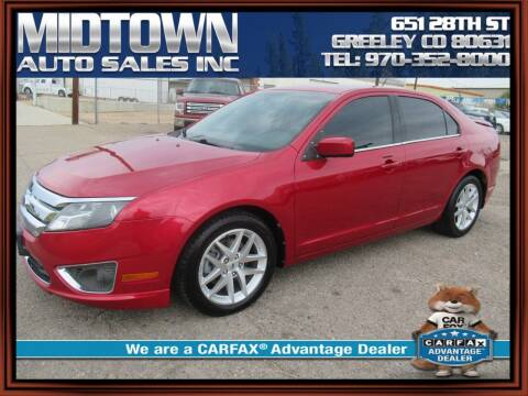 2012 Ford Fusion for sale at MIDTOWN AUTO SALES INC in Greeley CO