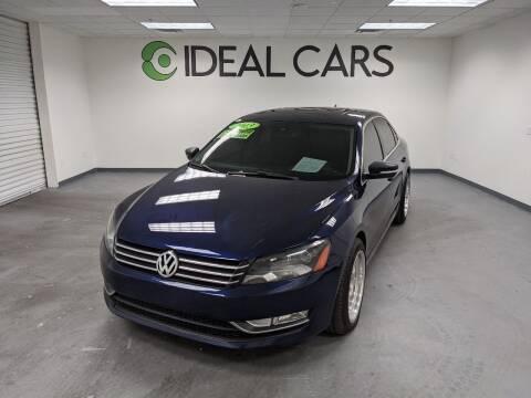 2013 Volkswagen Passat for sale at Ideal Cars in Mesa AZ