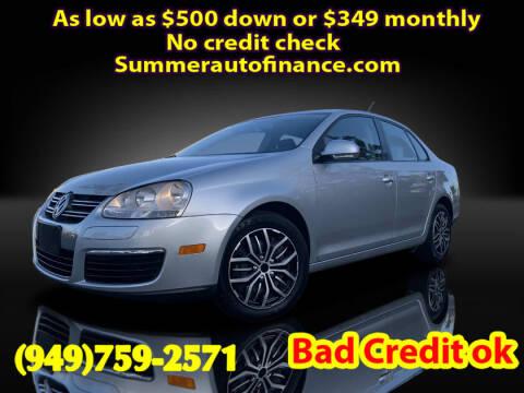 2009 Volkswagen Jetta for sale at SUMMER AUTO FINANCE in Costa Mesa CA