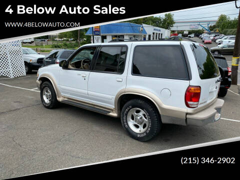 2001 Ford Explorer for sale at 4 Below Auto Sales in Willow Grove PA