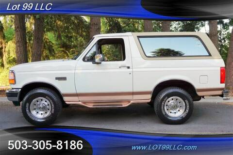 1995 Ford Bronco for sale at LOT 99 LLC in Milwaukie OR