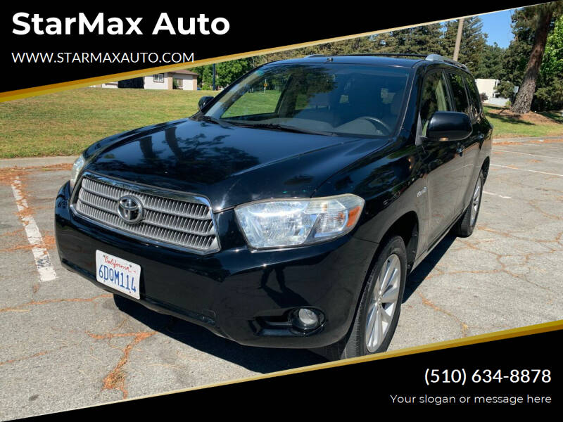2008 Toyota Highlander Hybrid for sale at StarMax Auto in Fremont CA