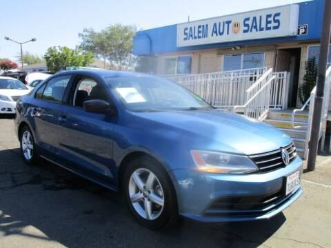 2016 Volkswagen Jetta for sale at Salem Auto Sales in Sacramento CA