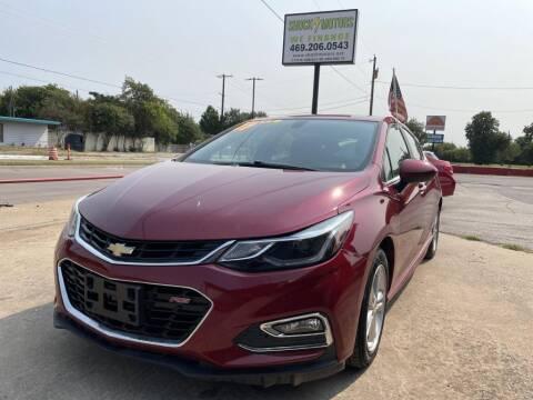 2017 Chevrolet Cruze for sale at Shock Motors in Garland TX