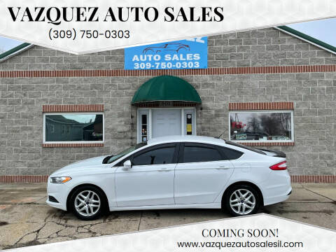 2014 Ford Fusion for sale at VAZQUEZ AUTO SALES in Bloomington IL
