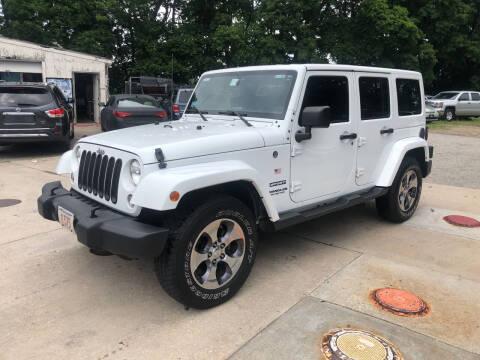 2017 Jeep Wrangler Unlimited for sale at Barga Motors in Tewksbury MA