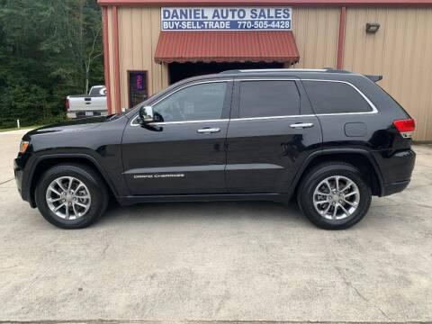 2014 Jeep Grand Cherokee for sale at Daniel Used Auto Sales in Dallas GA