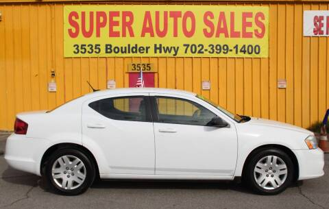 2013 Dodge Avenger for sale at Super Auto Sales in Las Vegas NV