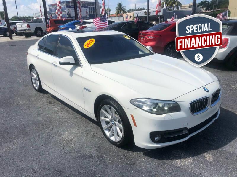2015 BMW 5 Series for sale at MACHADO AUTO SALES in Miami FL