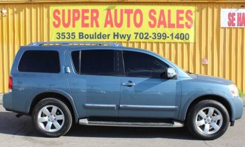2011 Nissan Armada for sale at Super Auto Sales in Las Vegas NV