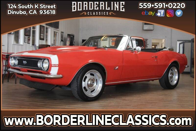 1967 Chevrolet Camaro for sale at Borderline Classics in Dinuba CA