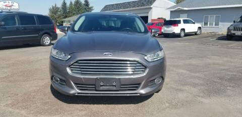 2013 Ford Fusion for sale at D AND D AUTO SALES AND REPAIR in Marion WI
