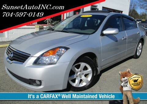2009 Nissan Altima for sale at Sunset Auto in Charlotte NC