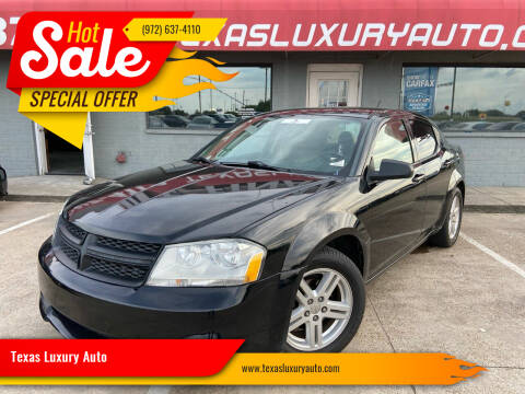 2014 Dodge Avenger for sale at Texas Luxury Auto in Cedar Hill TX