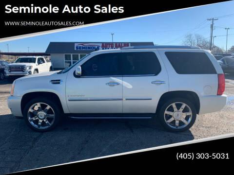 2008 Cadillac Escalade for sale at Seminole Auto Sales in Seminole OK