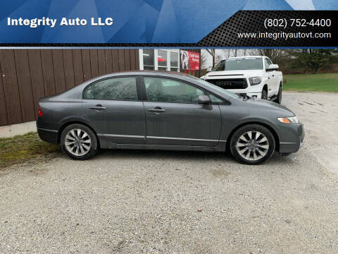 2009 Honda Civic for sale at Integrity Auto LLC in Sheldon VT