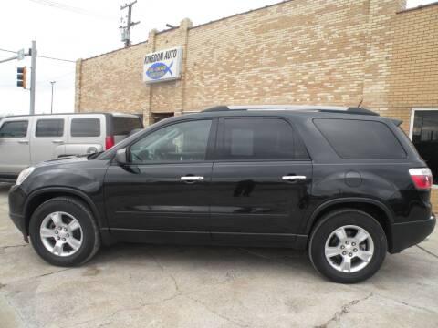 2012 GMC Acadia for sale at Kingdom Auto Centers in Litchfield IL