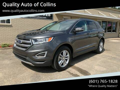 2018 Ford Edge for sale at Quality Auto of Collins in Collins MS