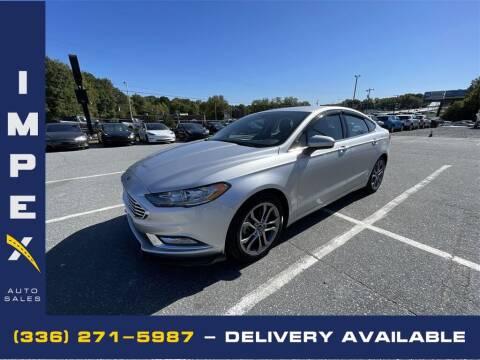2017 Ford Fusion for sale at Impex Auto Sales in Greensboro NC