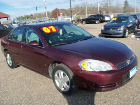 2007 Chevrolet Impala for sale at Country Side Car Sales in Elk River MN