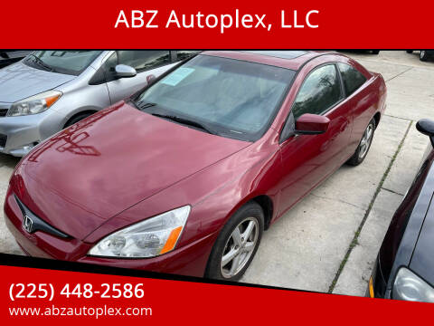 2003 Honda Accord for sale at ABZ Autoplex, LLC in Baton Rouge LA