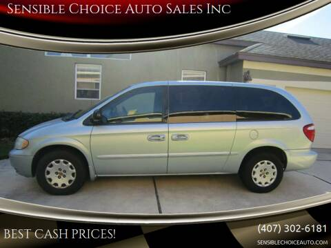 2002 Chrysler Town and Country for sale at Sensible Choice Auto Sales, Inc. in Longwood FL