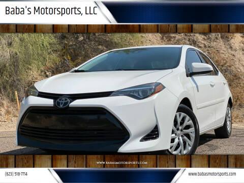 2018 Toyota Corolla for sale at Baba's Motorsports, LLC in Phoenix AZ
