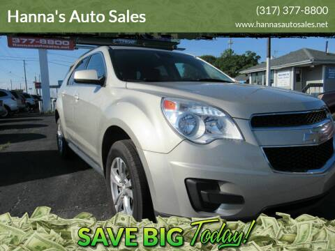 2015 Chevrolet Equinox for sale at Hanna's Auto Sales in Indianapolis IN