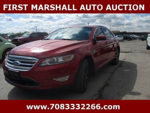 2010 Ford Taurus for sale at First Marshall Auto Auction in Harvey IL