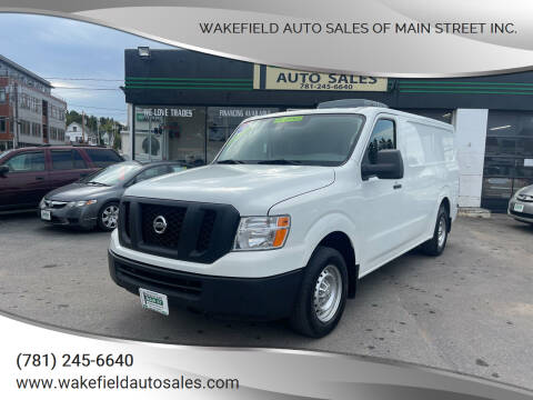 2016 Nissan NV Cargo for sale at Wakefield Auto Sales of Main Street Inc. in Wakefield MA