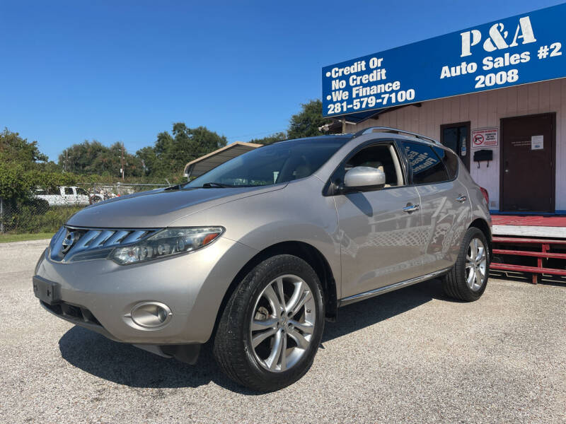 2010 Nissan Murano for sale at P & A AUTO SALES in Houston TX