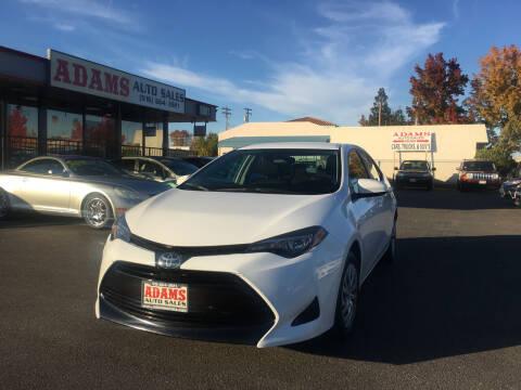 2018 Toyota Corolla for sale at Adams Auto Sales in Sacramento CA