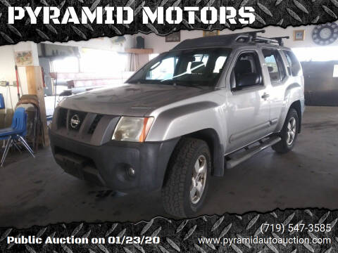 2007 Nissan Xterra for sale at PYRAMID MOTORS - Pueblo Lot in Pueblo CO