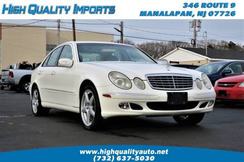 2004 Mercedes-Benz E-Class for sale at High Quality Imports in Manalapan NJ
