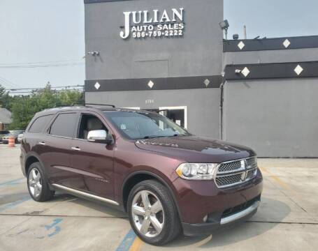 2012 Dodge Durango for sale at Julian Auto Sales, Inc. in Warren MI