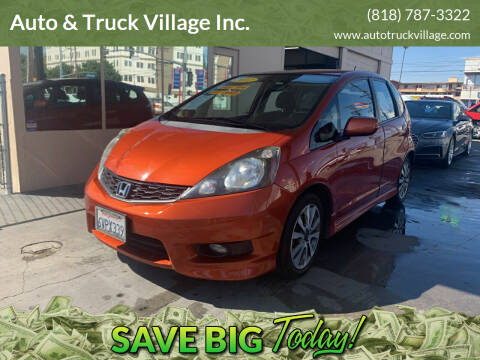 2012 Honda Fit for sale at Auto & Truck Village Inc. in Van Nuys CA
