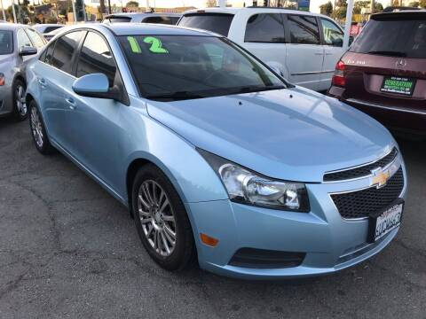 2012 Chevrolet Cruze for sale at CAR GENERATION CENTER, INC. in Los Angeles CA