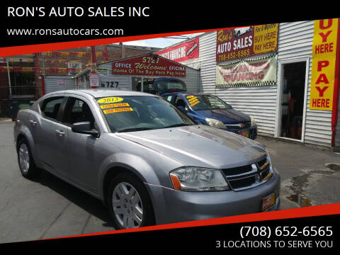 2013 Dodge Avenger for sale at RON'S AUTO SALES INC in Cicero IL