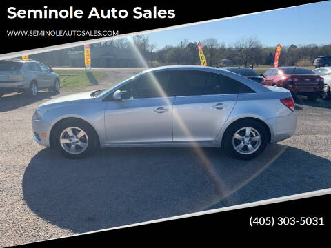 2012 Chevrolet Cruze for sale at Seminole Auto Sales in Seminole OK